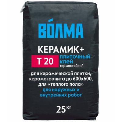 Клей плиточный ВОЛМА-КЕРАМИК ПЛЮС, 25кг